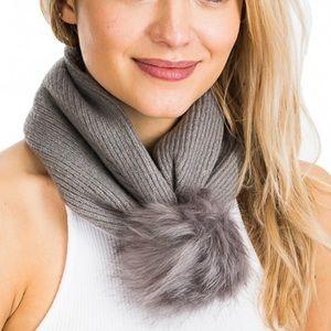 Plush Faux Fur Soft Cozy Scarf Convertible Scarf